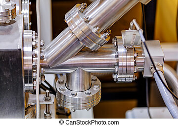 Detail of machinery in physics laboratory - Detail of...