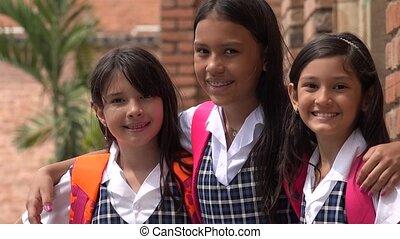 Happy Smiling School Children