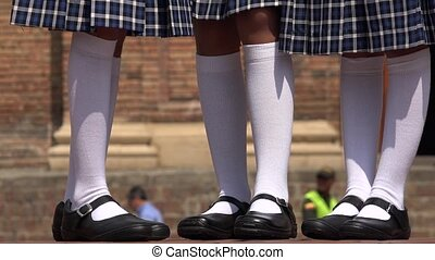 Legs Of Girls Wearing White Socks