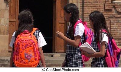 Children Waiting At School