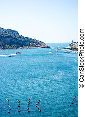 view of palmaria - view of italian sea at palmaria from...