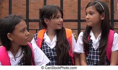 School Children Having Fun