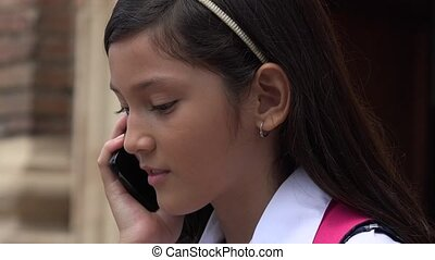 Girl Using Cell Phone