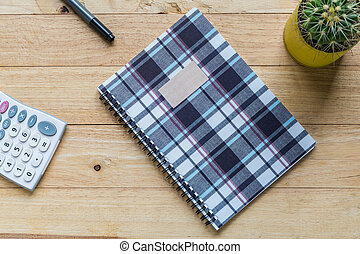 Spiral notebook or ring binder book. - Spiral notebook or...