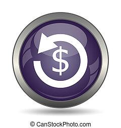 Refund icon Internet button on white background