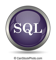SQL icon. Internet button on white background.