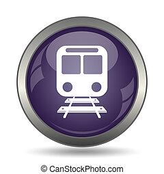 Train icon Internet button on white background