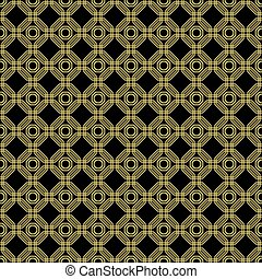 Seamless Abstract Vector Pattern With Octagons - Geometric...