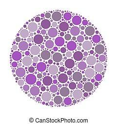 Circle made of dots