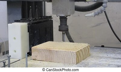 CNC Machine - CNC machine milling wood part