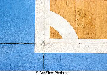 Futsal, tribunal, interior, deporte, estadio,
