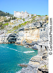 byron cliff - rare view of lord byron cliff at portovenere...