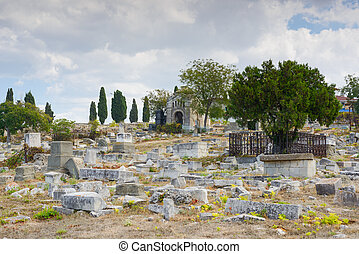 Old cemetery in Sevastopol - The ancient Jewish cemetery in...