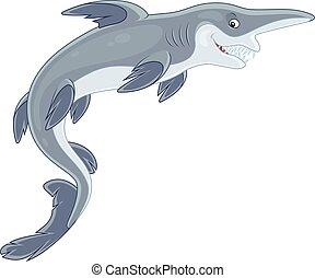 Goblin shark - Vector illustration of a deep-see goblin...