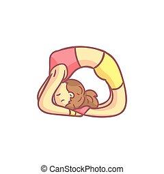 Girl Doing Dove Yoga Pose