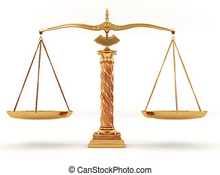 Symbol of justice Scale 3d