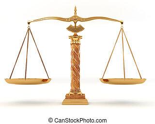 Symbole, justice, échelle