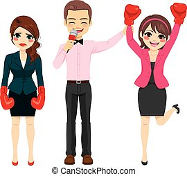 Businesswoman Combat Winner - Successful businesswoman...