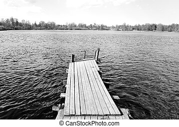 Pier on the lake. - Pier on the Lake Vuoksa, the Karelian...