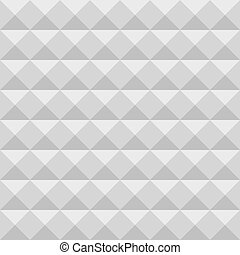 Acoustic foam wall, soundproofing. Seamless geometric vector pattern. Pyramid texture