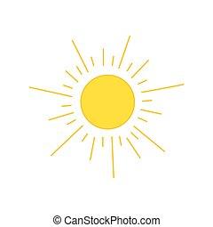 sol, vetorial, desenho