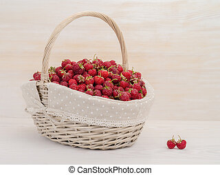 strawberry in a big basket