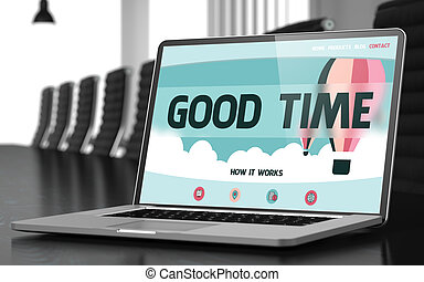 Laptop Screen with Good Time Concept - Good Time - Landing...