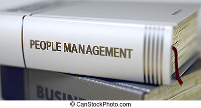 People Management Book Title on the Spine - Book Title on...