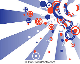 4th july background - illustration of colorful rays and...