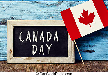 text Canada Day and flag of Canada - the text Canada Day...