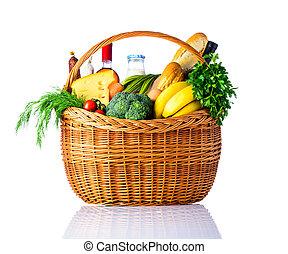 健康, 食物, 白色, 被隔离, 背景