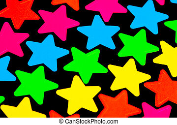 Colorful Stars on black