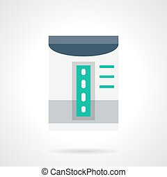 Household dehumidifier flat color vector icon - Gray room...