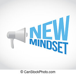 new mindset megaphone message illustration design graphic