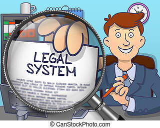 Legal System through Lens Doodle Style - Legal System...