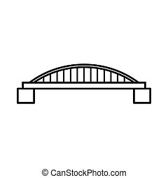 Bridge icon, outline style - Bridge icon in outline style...