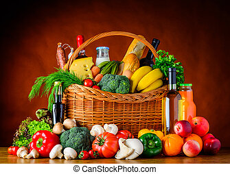 Healthy Eating. Organic Food, Vegetables and Fruits -...