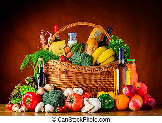 有机, 健康, 蔬菜, 食物, 吃, 水果