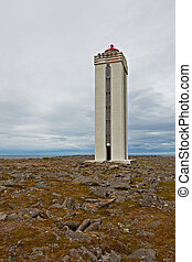 Hraunhafnartangi lighthouse, one the northernmost place on...