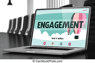 Laptop Screen with Engagement Concept - Engagement Concept...