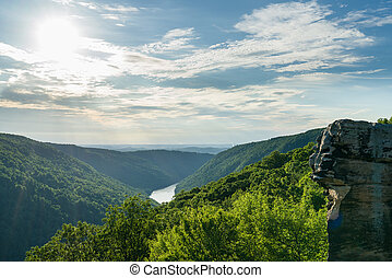 View from Raven Rock in Coopers Rock State Forest WV - View...