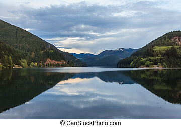 Lake near North Cascades National Park, Washington, USA -...
