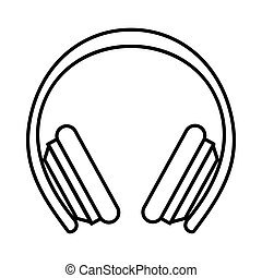 Protective headphones icon, outline style - Protective...