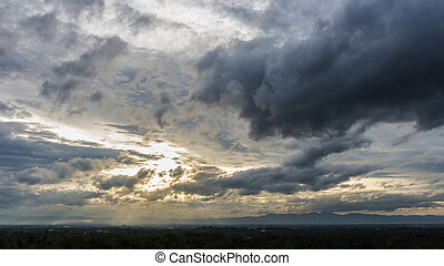 Color of dramatic sky with stormy