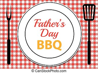 Fathers Day BBQ - Invitation card for Fathers Day BBQ with...