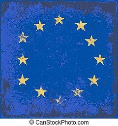 EU - grunge flag of European Union