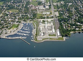 Kingston Penitentiary aerial - aerial view of the Kingston...