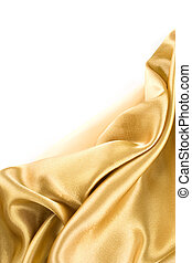 Gold Fabric - Luxurious gold satin folded cloth, useful for...
