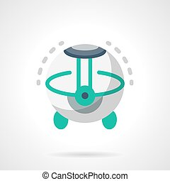 Room humidifier flat color vector icon - Ultrasonic climatic...