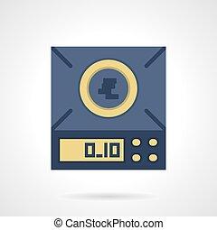 Digital scales flat color vector icon - Blue digital scales...